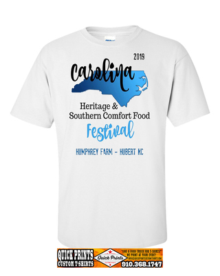 Official Carolina Heritage Festival & Southern Comfort Food Cook-Off T-shirt